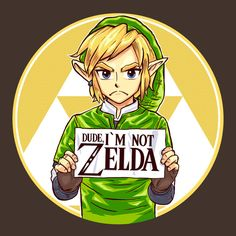 EXACTLY! A boy in my class asked this girl who the main character of Legend  of Zelda is, and she said Zelda. Technically it's Link