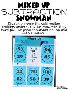 This subtraction with regrouping freebie is perfect for the winter!