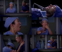 When Cristina found out that Henry was the one she was operating on. Sandra Oh was AMAZING in this scene.