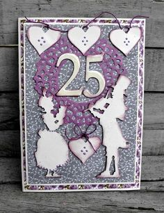 Crafting ideas from Sizzix UK: 25 years card