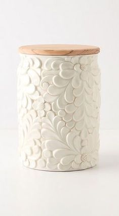 A beautiful way to add interest to canister.