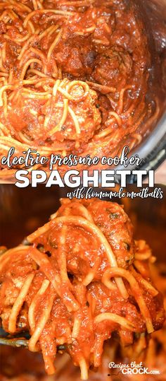 Are you looking for a good Electric Pressure Cooker Recipe for your Instant Pot? Our Electric Pressure Cooker Spaghetti with Homemade Meatballs is simple to make, quick to cook and so good! (Slow Cooker Recipes Spaghetti)