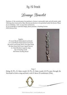 Bracelet Tutorial Beaded Bracelet Beading by SidoniasBeads