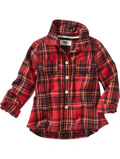 Old Navy   Plaid Long-Sleeve Shirt for Baby