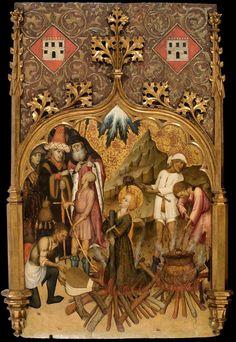 Bernat Martorell - Martyrdom of Saint Lucy