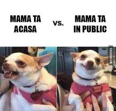 Mama ta acasa VS Mama ta in public