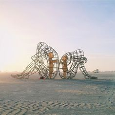 Love, a wire-frame sculpture by Alexander Milov that debuted at the 2015 Burning Man Festival, seems to resonate with many of us. Original image by @teamwoodnote.