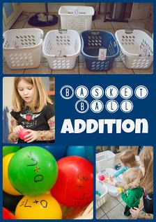 Basket Ball Addition - would be great for math fact learning.