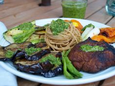 Summer Vegetable Mixed Grill with Chimichurri