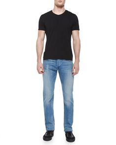 M5 Lorimer Slim-Fit Denim Jeans, Light Blue