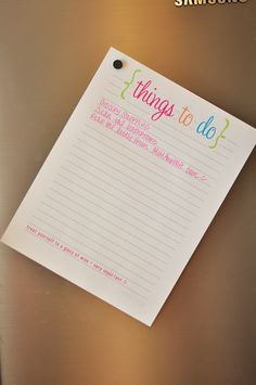 Things to do printable