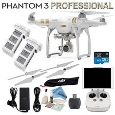 DJI Phantom 3 Professional Bundle  w eDigitalUSA Includes SPARE BATTERY  Card Reader  Cleaning Kit  Brush Blower  eDigitalUSA Microfiber Cleaning Cloth >>> You can find out more details at the link of the image.Note:It is affiliate link to Amazon.