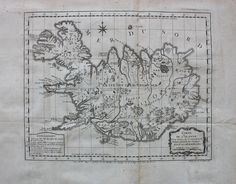 Antique Map of Iceland - Carte de l'Islande, Pour servir a la Continuation de l'Histoire generale des Voyages. - Antique Maps and Charts – Original, Vintage, Rare Historical Antique Maps, Charts, Prints, Reproductions of Maps and Charts of Antiquity