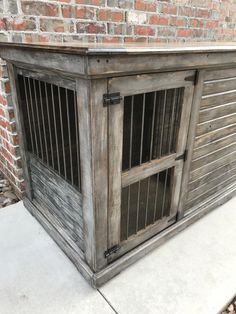 Buy Luxury Dog Kennels and Stylish Dog Crates from Kennel & Crate dog kennel entertainment center Dog Crate Cover, Dog Kennel Cover, Diy Dog Kennel, Large Dog Crate, Large Dogs, Kennel Ideas, Small Dogs, Old Farm Houses, Dog Houses