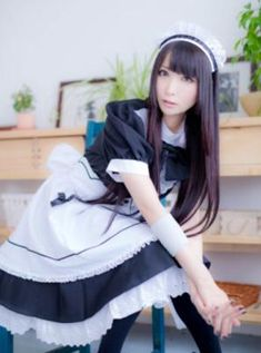 *Closet cosplay connoisseur* The best of: Cosplay. Person on my avatar: Nishiuchi Mariya, someone I adore. Maid Outfit Cosplay, Cute Cosplay, Cosplay Girls, Victorian Maid, French Maid Dress, Asian Cosplay, Maid Uniform, Harajuku Fashion, Girl Model