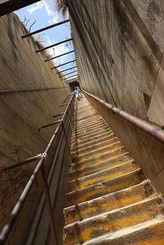Stairs to Diamond Head, with my bestie, Sharon!