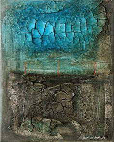 """ broken "" acryl, ink, filler on canvas 30 cm x 24 cm"
