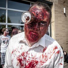 Zombie makeup for Halloween. Latex works wonders!