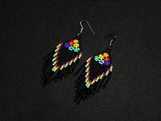 Seed Bead Earrings, Flower Earrings, Beaded Earrings, Seed Beads, Seed Bead Patterns, Beading Patterns, Flower Patterns, Beading Ideas, Bead Jewellery