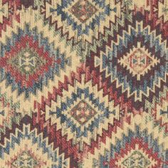 Southwest design #fabric #upholstery Rustic Upholstery Fabric, Green Diamond, Southwest Style, Visual Merchandising, Bohemian Rug, Beige, Rugs, Projects, Pattern