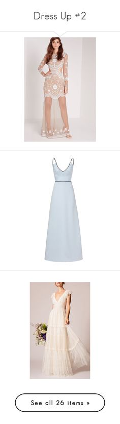 """""""Dress Up #2"""" by challicewell ❤ liked on Polyvore featuring dresses, wedding dresses, gowns, blue, v neck gown, blue dresses, blue color dress, v neck sleeveless dress, blue sleeveless dress and vestidos"""