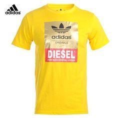 Camisetas Adidas Hombre Amarillo Color Puro