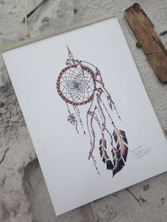 Indian Dream Catcher Print van MorgansCanvas op Etsy