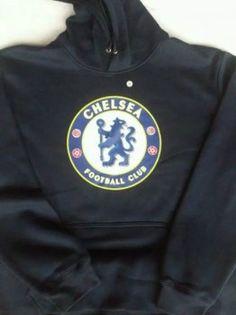 15-16 Season Chelsea FC Team Logo Navy Hoody Sweater [E651]
