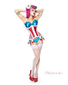 onlysexyasiangirls:    Amelia Nightmare is the perfect modern pin up!Photographer: Alvarado