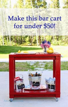 Simple easy bar cart plans from ana-white.com