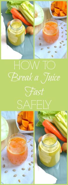 How to break a juice cleanse or fast safely - great tips on how to introduce foods properly after a juice fast.