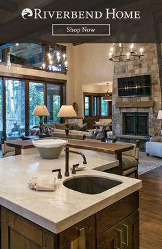 Barn House Design, Modern House Design, Office Interior Design, Home Interior, Interior Decorating, Brick Wall Decor, High Ceiling Living Room, Modern Lodge, A Frame House
