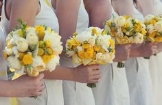 lemon yellow weddings | ... bouquets, flowers, lemon, yellow, Napa Valley, California) - Loverly