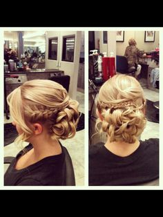 Prom Updo Side braids, Wedding, so cal        By appointment: pi9apple@verizon.net