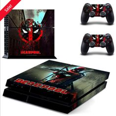 Cheap protection Buy Quality dualshock sticker directly from China skin sticker Suppliers: Console Protective Vinyl Skin Decal Cover for Playstation 4 & Dualshock Stickers - SuperHero DEADPOOL Ps4 Console, Playstation 4 Console, Playstation Games, Ps4 Games, Games Consoles, Deadpool Skin, Deadpool Movie, Deadpool Gifts, Deadpool Superhero