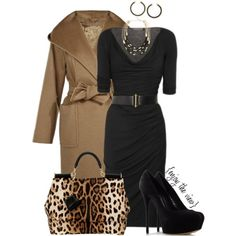 Black & Brown contest entry #3 by enjoytheview on Polyvore featuring MaxMara, Casadei, Dolce&Gabbana, BCBGMAXAZRIA and Donna Karan
