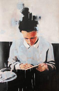 """Felipe Achondo es un artista visual nacido en 1982 en la ciudad de Santiago de Chile. Lo que más le apasiona a Felipe son los retratos aunque en sus ultimas obras amplia un poco más el campo de visión del espectador, e incluso añade elementos decorativos. Os dejo la cita donde él mismo describe su obra de manera muy acertada: """"Pese a la ausencia del ser, su esencia es impregnada en su hábitat, su mundo donde se desarrolla y finalmente cobra identidad de forma tal que su imagen, como con..."""