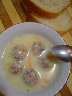 Yoghurt Soup with Meatballs and Carrot