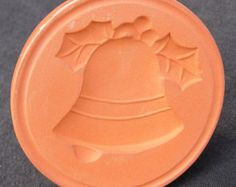 Christmas Bell Cookie Press Mold Mould Stamp