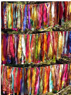 Gypsy Fringe All Sari Exotic Flag Garland By the Foot by ArtToGo                                                                                                                                                                                 More