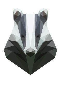 Geometric Badger. again, not yellow