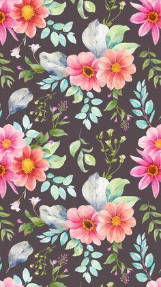 Floral Wallpaper 🌸 #flower #wallpaper #background #floral #pink #iphone Flower Iphone Wallpaper, Love Wallpaper, Pattern Wallpaper, Computer Wallpaper, Mobile Wallpaper, Background Pictures, Teal Background, Wallpapers Android, Cute Wallpapers