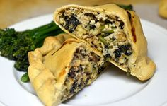 Tempeh and Kale Calzones