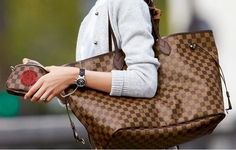 Louis Vuitton Neverfull GM Damier Ebene. ❤️ this bag... One day.