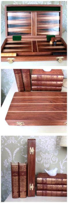 Solid wooden backgammon case and board. Quality products. Feed your mind | live life | Enjoy your potential. BG2006. ChessBaron.co.uk