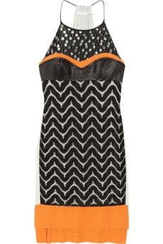 Diane von Furstenberg|Solange crochet-paneled crepe hatlerneck dress|NET-A-PORTER.COM - StyleSays