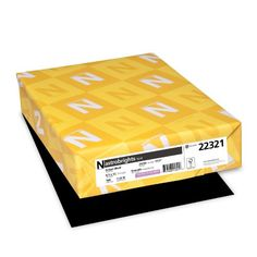 Neenah Astrobrights Premium Color Paper 24 lb 85 x 11 Inches 500 Sheets Eclipse Black >>> See this great product.