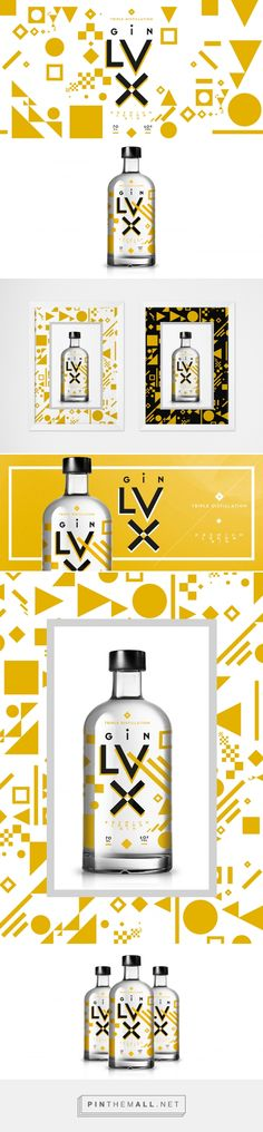 Lux Premium Gin on Behance by Homeland Studio curated by Packaging Diva PD.  Visual packaging identity for the special edition of 'Gin Lux' Premium London Gin.