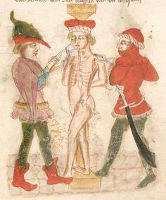 Weltchronik. Sibyllenweissagung. Antichrist  BSB Cgm 426, Bayern,  3. Viertel 15. Jh  Folio 143