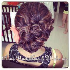 Anna Nuet Hair & Makeup Artist, Punta Cana - texturized updo with braid